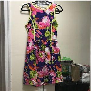 Parker 100% Silk Lace Up Open Back Dress Size M